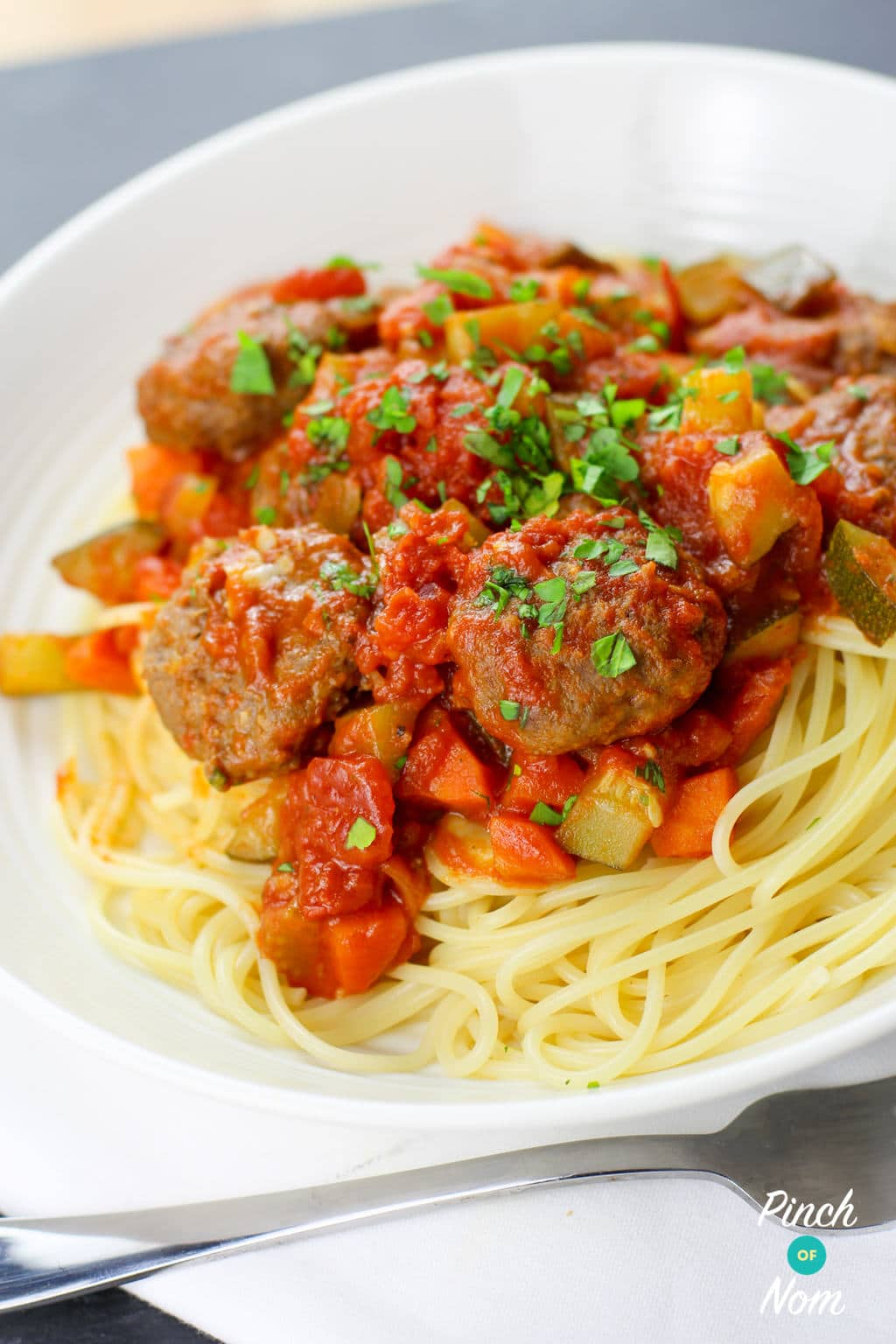 Low Syn Meatball Marinara