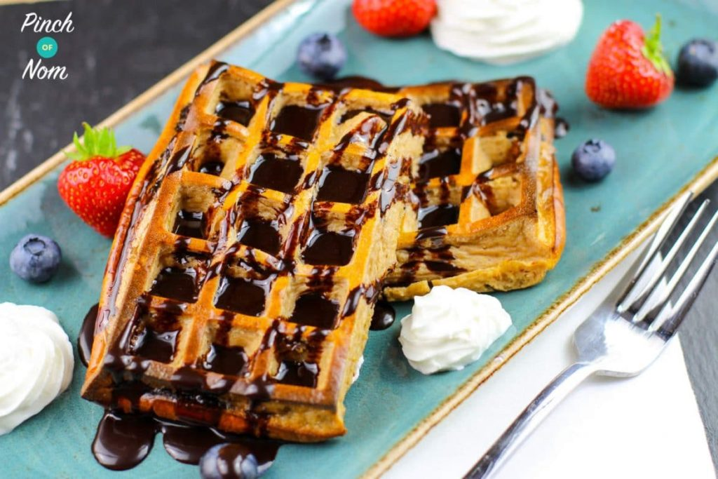 Low Syn Chocolate and Coconut Waffles