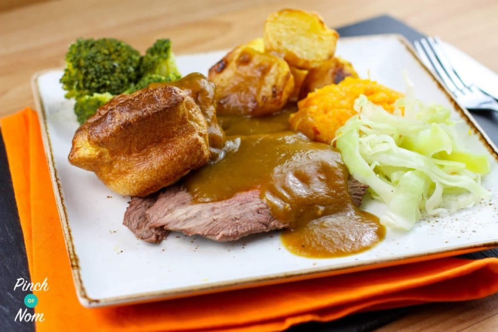 Syn Free Roast Beef and Gravy | Slimming World - Pinch Of Nom