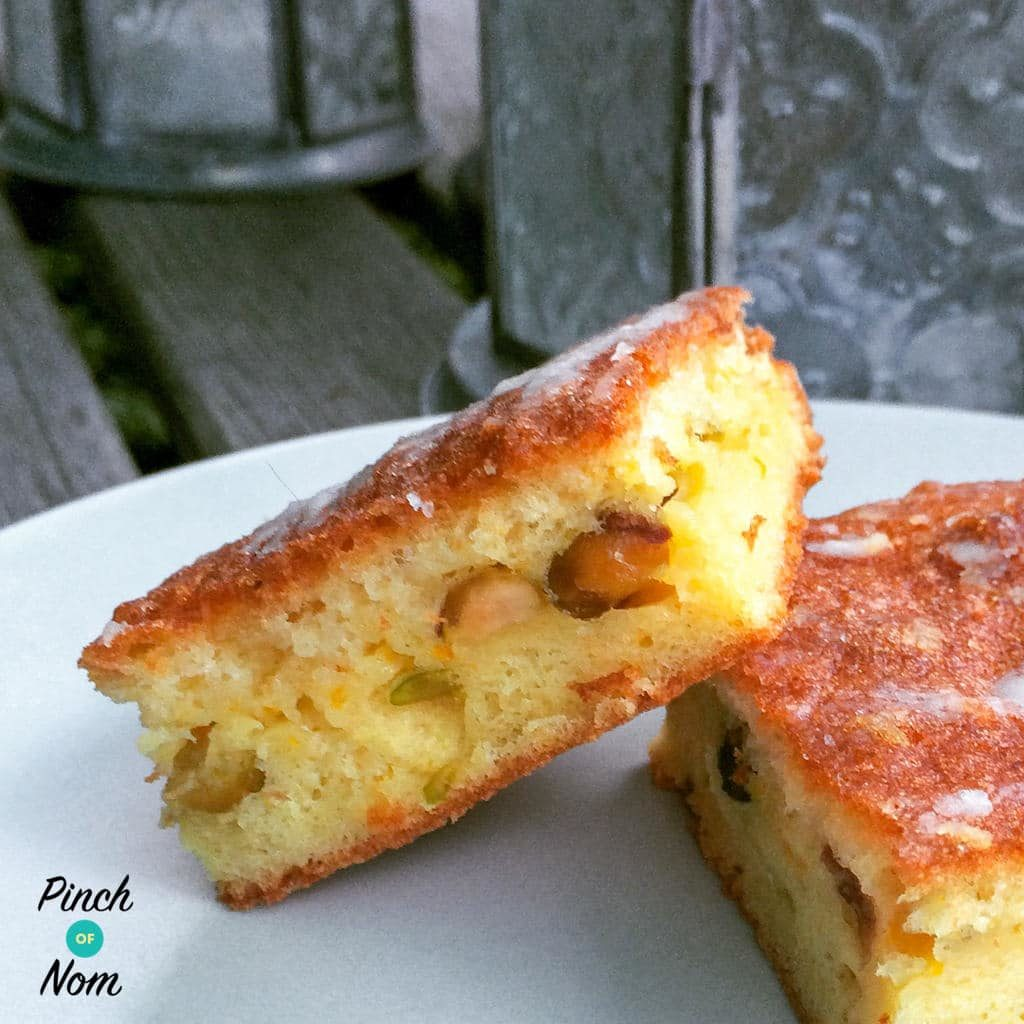 Low Syn Orange, Pistachio and Cardamon Drizzle Cake | Slimming World