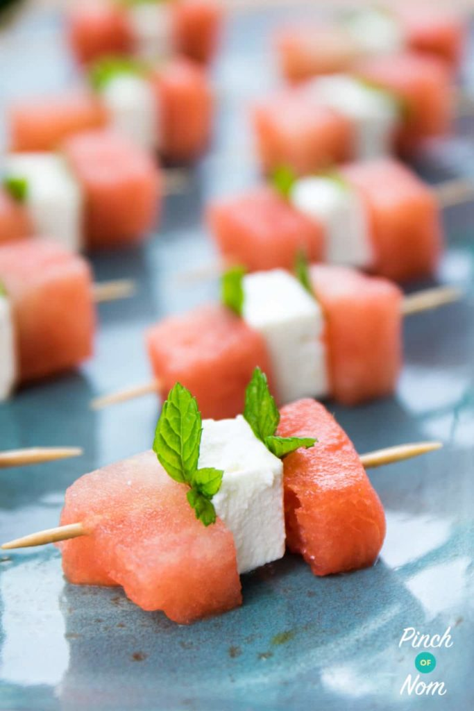 Half Syn Watermelon, Feta and Mint Bites | Slimming World