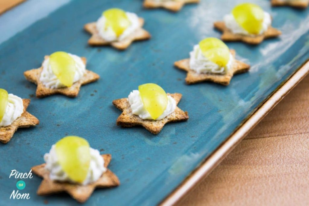 Low Syn Whipped Blue Cheese Crostini - Slimming World